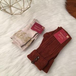 Merona Cozy boot & crew socks bundle NEW One size